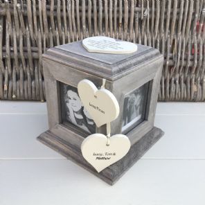 Shabby Chic PERSONALISED Rustic Wood Auntie Aunty Aunt Gift ANY NAME Photo Cube - 332870604302